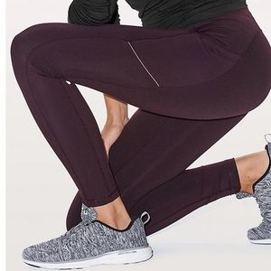 NWT lululemon fast as fleece tight Sz 8 leggings